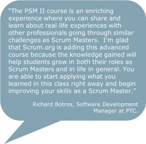 Professional Scrum Master II Quote